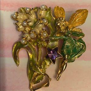 Vintage kirks folly  fairy pin/brooch